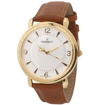 Peugeot Mens Brown Strap Watch-2060g