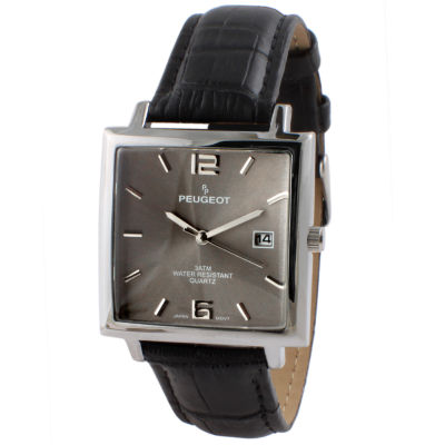 Peugeot Mens Black Strap Watch-2062gy