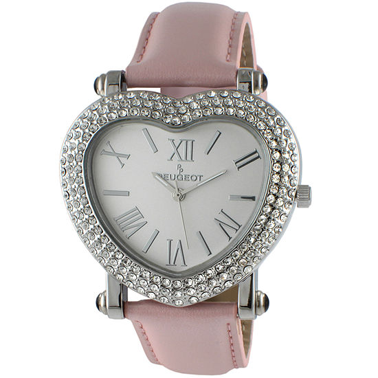 Peugeot Womens Pink Leather Strap Watch-681pk
