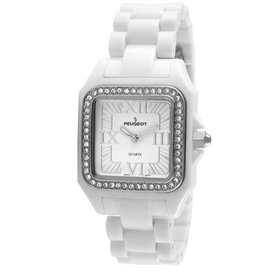 Peugeot Womens White Bracelet Watch-7062wt