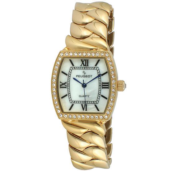 Peugeot Womens Gold Tone Bracelet Watch-7099g