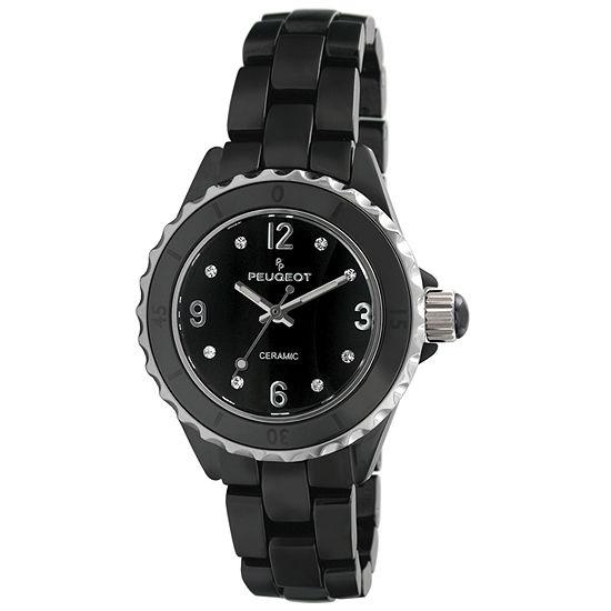 Peugeot Womens Black Bracelet Watch-7100bk