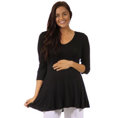 24/7 3/4 Sleeve Tunic - Maternity