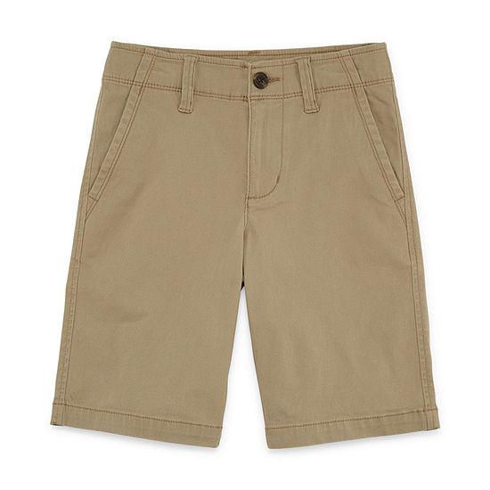 Arizona Stretch Chino Shorts Boys 4-20, Slim & Husky