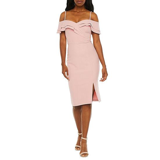 Premier Amour Cold Shoulder Sheath Dress