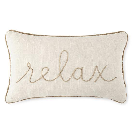 JCPenney Home Relax Rectangular Throw Pillow