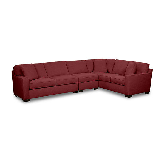 Fabric Possibilities Track Arm 3-Piece Right Arm Facing Sofa Sectional