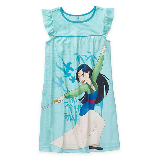 Disney Collection Little Kid / Big Kid Girls Knit Sleeveless Crew Neck Nightshirt