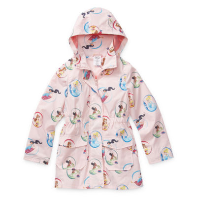 Disney Collection Girls Disney Princess Water Resistant Midweight Raincoat Preschool / Big Kid