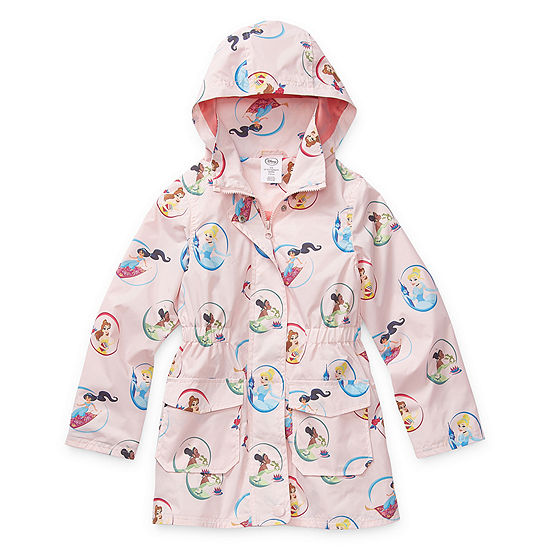 Disney Collection Little & Big Girls Disney Princess Water Resistant Midweight Raincoat