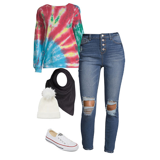 Active Everyday: Tie Dye Sweatshirt with Jeans