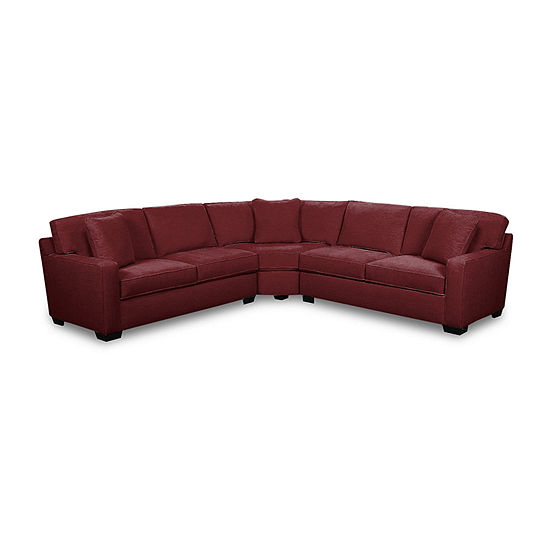 Fabric Possibilities Track Arm 3-Piece Sectional