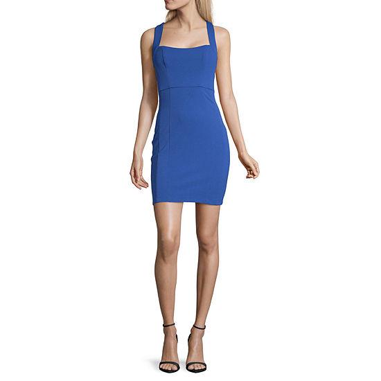 Social Code-Juniors Sleeveless Bodycon Dress