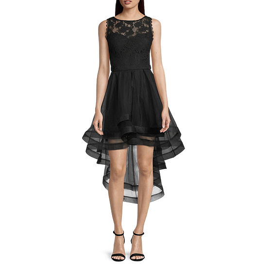 City Triangle-Juniors Sleeveless High-Low Fit & Flare Dress