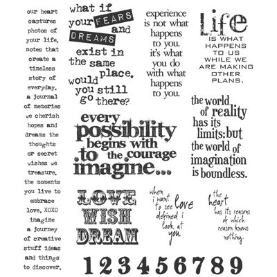 Tim Holtz® Large Cling Rubber Stamp, Stuff 2 Say Set