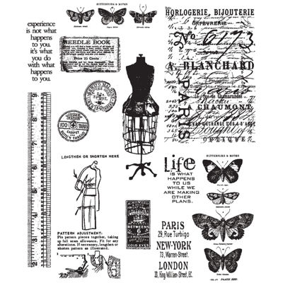 Tim Holtz® Large Cling Rubber Stamp, Attic Treasures Set