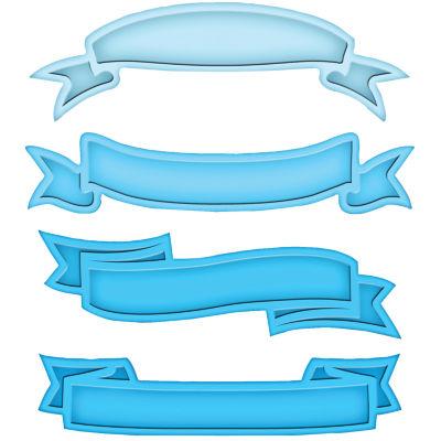 Spellbinders™ Shapeabilities® Die, 4-pc.Ribbon Banners