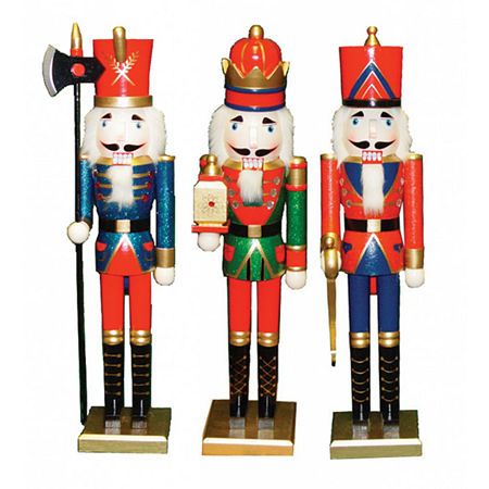 """24"""" King Guard Soldier 3-pc. Christmas Nutcracker. One Size . Multiple Colors"""