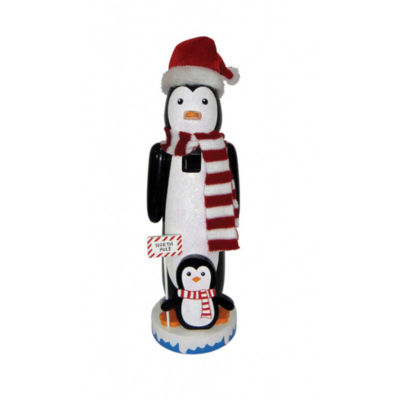 "14"" North Pole Penguins Nutcracker"