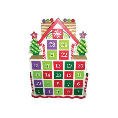 "15.5"" Gingerbread Advent Calendar"