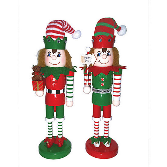 "14"" Elves at Work Nutcracker- Set of 2"""