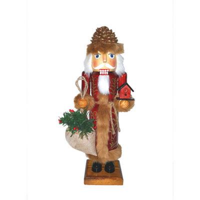 "14"" Pine Cone Santa Nutcracker"