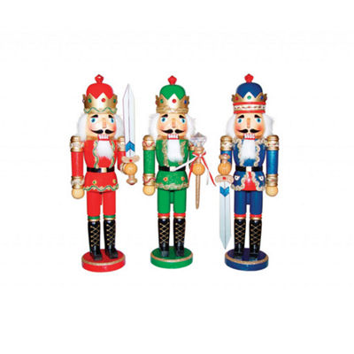 "15"" Bejeweled King Nutcrackers- Set of 3"""