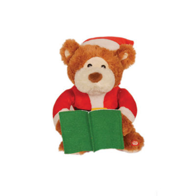 "10"" Night Before Christmas Musical Animanted Bear"