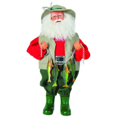 "15"" Stringer Of Fish Santa"