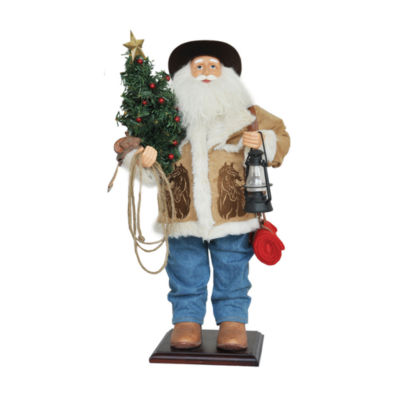 "24"" Home On The Range Santa"