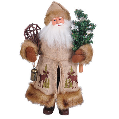 "15"" Moose In The Bush Santa"