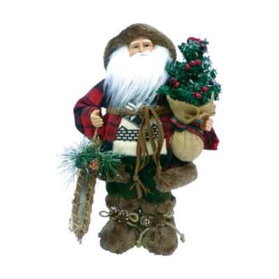 "16"" Woodsman With Canoe Santa"