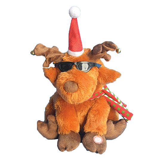 """12"""" Animated Christmas Moose"""