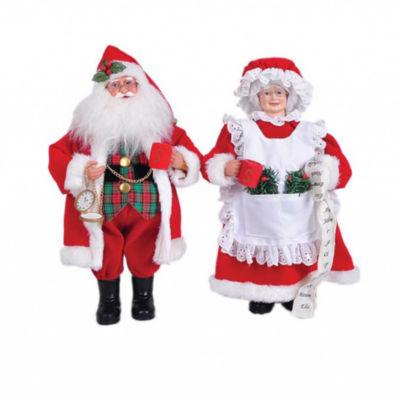 Mr. & Mrs. Claus- Set of 2
