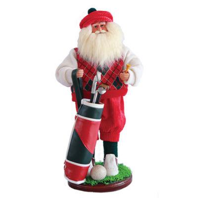 """18"""" Golfer Santa"""