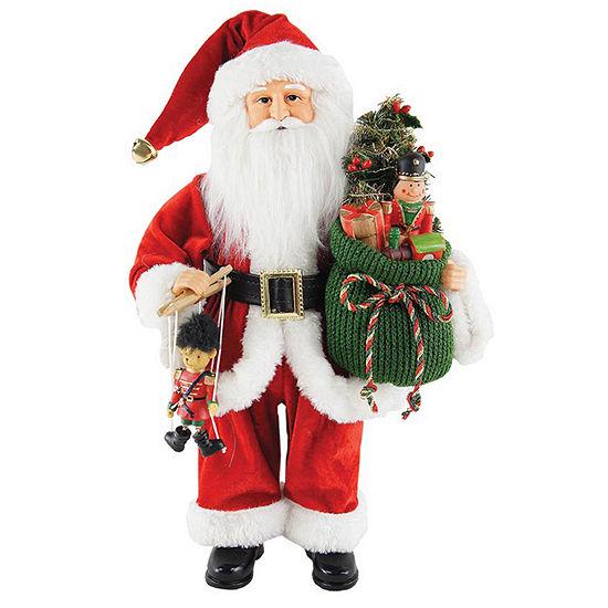 "Hand Painted 15"" Bag Full Of Toys Santa"