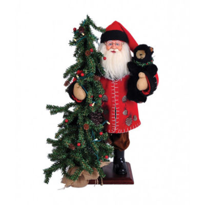 "20"" Pine Cone Santa With Tree"