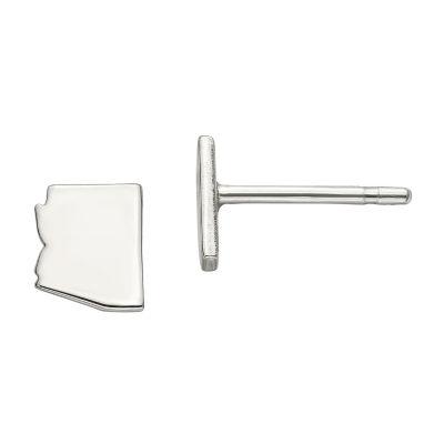 Personalized Sterling Silver Arizona Stud Earrings