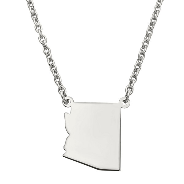 Personalized Sterling Silver Arizona Pendant Necklace