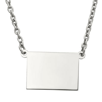 Personalized Sterling Silver Colorado Pendant Necklace