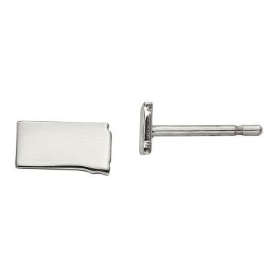 Personalized Sterling Silver South Dakota Stud Earrings