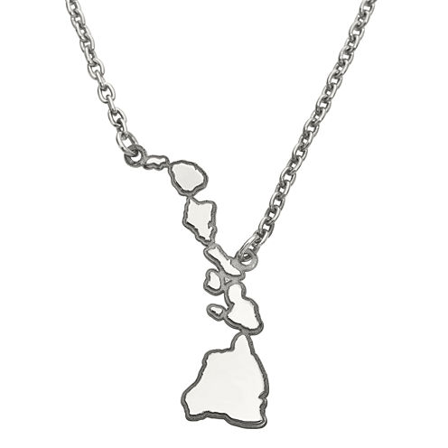 Personalized Sterling Silver Hawaii Pendant Necklace
