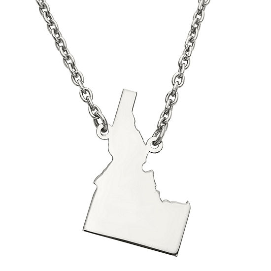 Personalized Sterling Silver Idaho Pendant Necklace