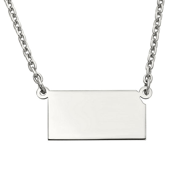 Personalized Sterling Silver Kansas Pendant Necklace