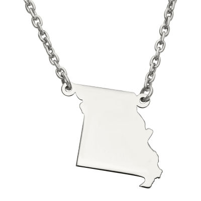 Personalized Sterling Silver Missouri Pendant Necklace