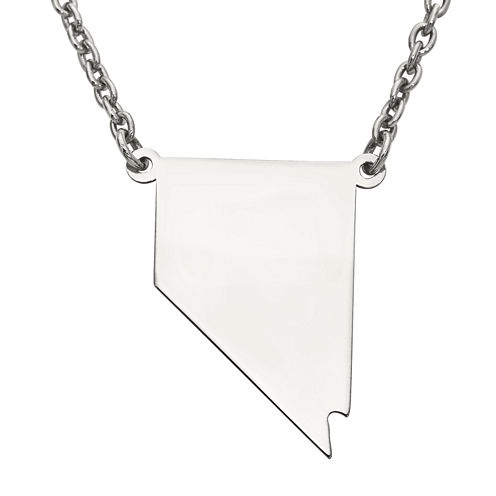 Personalized Sterling Silver Nevada Pendant Necklace