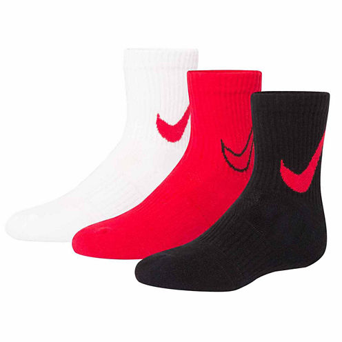 Nike 3-pc. Crew Socks- Boys X-Small