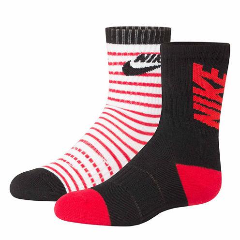 Nike 100 2-pk. Crew Socks- Boys X-Small