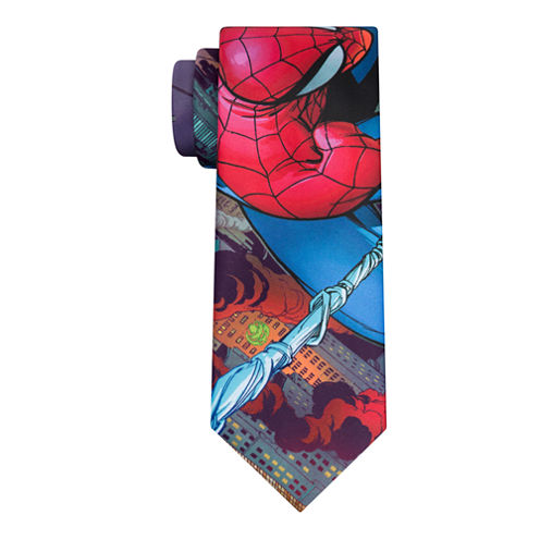 Marvel Burning City Spidy Tie