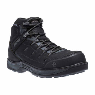Wolverine Mens Edge Lx Work Boots Waterproof Slip Resistant Composite Toe Lace-up